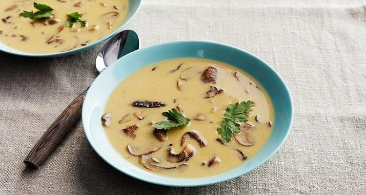 دستور پخت سوپ تره فرنگی با قارچ