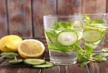 شربت عسل و خیار و لیمو ترش