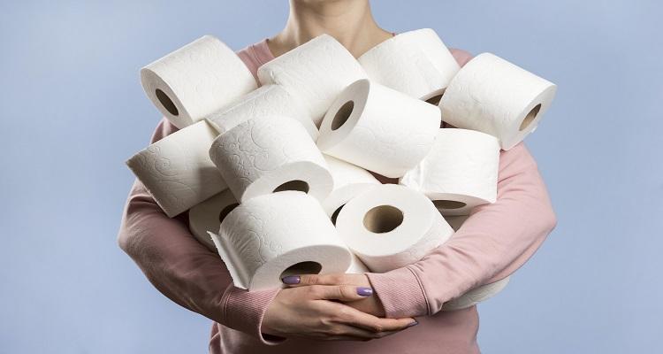 دستمال توالت رنگی استفاده نکنید!
