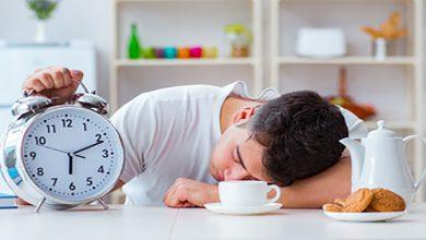 فاصله بین زمان شام و زمان خواب