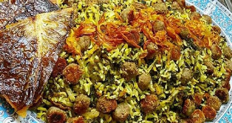 طرز تهیه کلم پلوی شیرازی