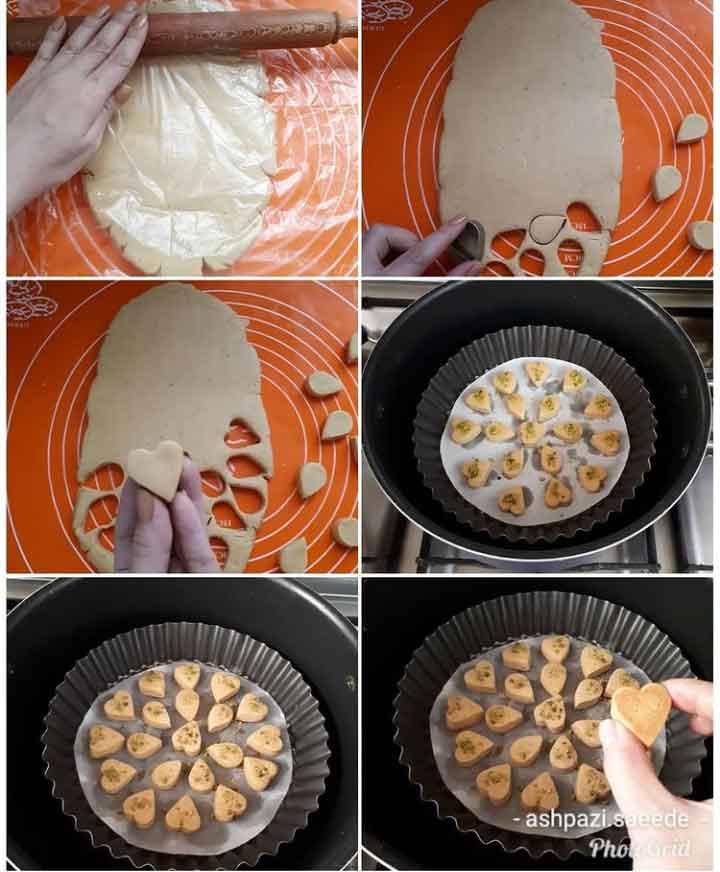پخت شیرینی نخودچی بدون فر
