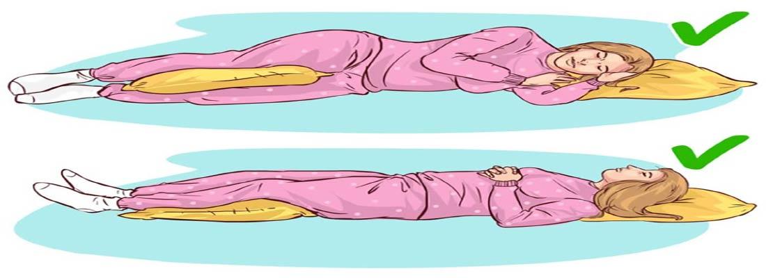 قرارگیری مناسب بالش موقع خواب، جهت تراز بودن سر و گردن و ستون فقرات
